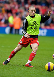 LIVERPOOL, ENGLAND - Saturday, February 23, 2008: Liverpool's Fabio Aurelio warms up before the Premiership match against Middlesbrough at Anfield. (Photo by David Rawcliffe/Propaganda)
