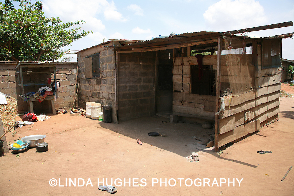 Shack in a Remote Village just outside of Accra Ghana