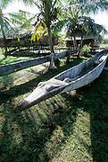 outrigger canoe, Sepik River, Papua New Guinea