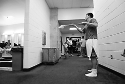 28 May 2007: Duke Blue Devils midfielder Mike Catalino (29) pregame in the locker room before playing Johns Hopkins in the NCAA Championship at M&T Stadium in Baltimore, MD.