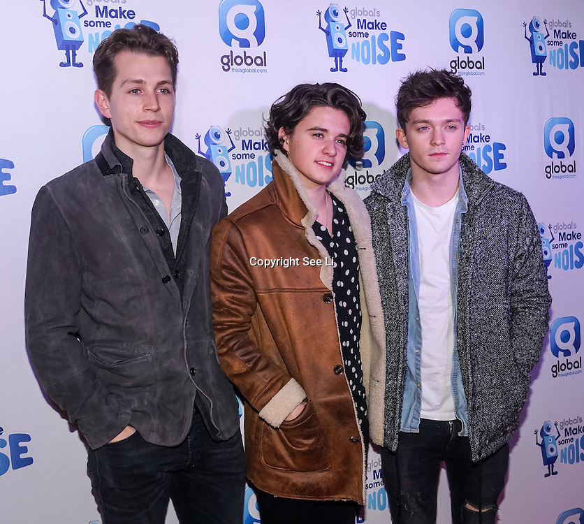 The Vamps attend gala night hosted by Global Radio to support its charity Make Some Noise. The charity awards grants to projects across the country to help children and young people affected by illness, disability, bereavement or lack of opportunity on 24th November 2016,London,UK. Photo by See Li