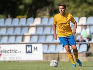 Matthias Pointinger (Ølstykke FC) under kampen i Serie 2 mellem Ølstykke FC og Ejby IF den 7. september 2019 på Ølstykke Stadion. Foto: Claus Birch.