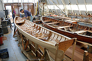 "Jeremy Fisher-Smith building a 19 foot ""Viking"" boat for the Dolphin Club of San Francisco"