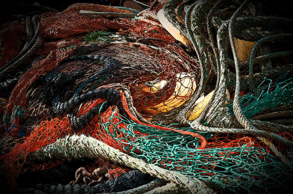 Fineart print abstract pattern fishing nets