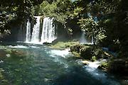 Turkey, Antalya, Upper Duden River waterfalls.