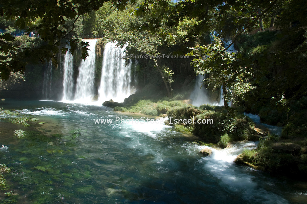 Turkey, Antalya, Upper Duden River waterfalls.