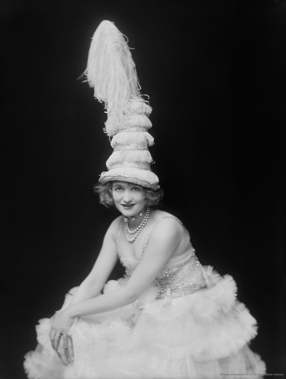 Gaby Deslys, dancer and actress, wearing a large hat, 1914
