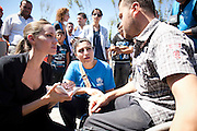 "** Note to Editor: Subject names deliberately omitted for protection**..Turkey: UNHCR Special Envoy Angelina Jolie meets with Syrian refugees in Eastern Turkey...The United Nations High Commissioner for Refugees, António Guterres, and his Special Envoy, Angelina Jolie  continued their regional tour visiting Turkey today, to hear accounts from Syrian refugees...On the third leg of a solidarity tour to support UNHCR's regional response to the Syrian refugee situation, the United Nations High Commissioner for Refugees António Guterres, and his Special Envoy, Angelina Jolie spent the day visiting two of the 11 refugee camps along Turkey's border with Syria. The planning is for 17 camps to be established to enable Turkey to accommodate up to 36,000 more...Guterres and Jolie paid tribute to the Government of Turkey for keeping its borders open for anyone seeking asylum, adopting a system of temporary protection and providing assurance that no Syrian would be forcibly returned...""Syrians have a history of welcoming people in need,"" added Ms. Jolie. ""Now it is their hour of need and I am grateful to Turkey, and all the neighboring countries for their extraordinary generosity.""..During her visit to the camp, Ms. Jolie met with several families, all.of whom had lost family members in the violence in Syria. One woman told her a story about a house that was bombed in her town and the entire family was killed. ""We don't care about our house,"" the woman said. ..""We care about the blood of the people."" Another woman told her a similar story where a family was killed, but with one survivor - a baby found cradled in her dead mother's arms...©UNHCR/JTanner/Sept 2012"