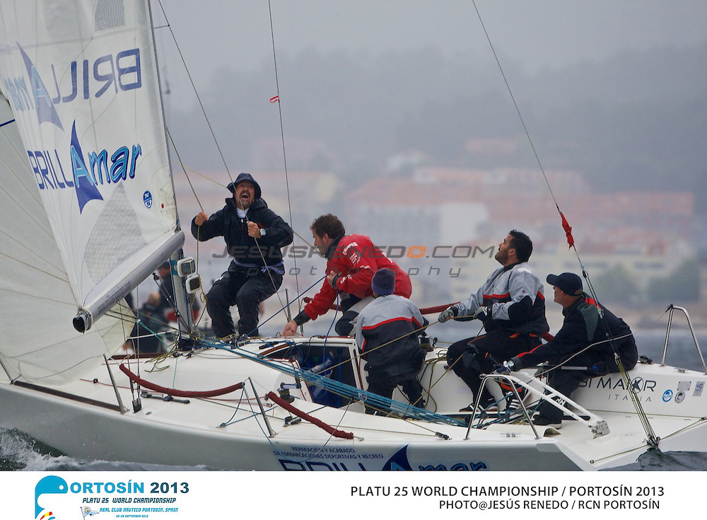 Platu 25 World Championships, Portosín , Galicia, Spain. Day 2 24-29 September 2013  ©