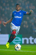 Alfredo Morelos (#20) of Rangers FC during the Europa League Group G match between Rangers FC and BSC Young Boys at Ibrox Park, Glasgow, Scotland on 12 December 2019.