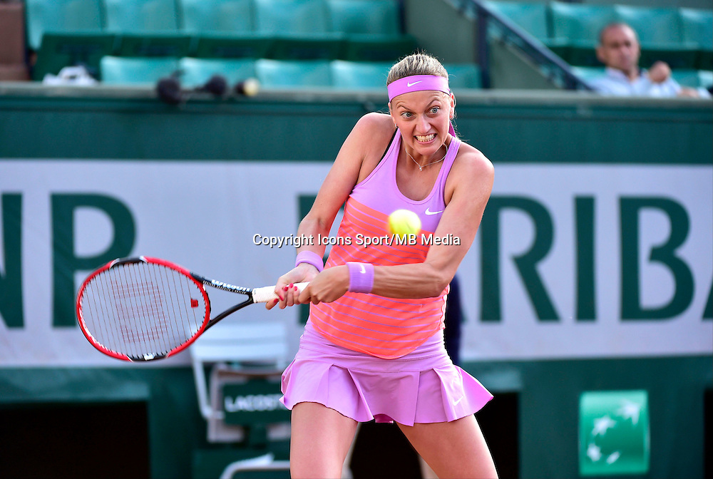 Petra KVITOVA - 01.06.2015 - Jour 9 - Roland Garros 2015<br /> Photo : David Winter / Icon Sport
