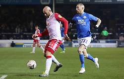 Scott Cuthbert of Stevenage in action with Marcus Maddison of Peterborough United - Mandatory by-line: Joe Dent/JMP - 19/11/2019 - FOOTBALL - Weston Homes Stadium - Peterborough, England - Peterborough United v Stevenage - Emirates FA Cup first round replay