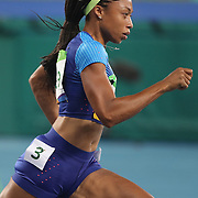 Athletics - Olympics: Day 9   Allyson Felix of the United States in action while winning the Women's 400m Semi Final at the Olympic Stadium on August 14, 2016 in Rio de Janeiro, Brazil. (Photo by Tim Clayton/Corbis via Getty Images)