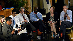 Six of eight candidates attended the Philly DA For The People Candidate Forum, at Arch Street United Methodist Church, on Tuesday.