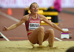 August 11, 2017 - London, England, United Kingdom - Lauma GrÄ«va of Latvia jumps in the long jump final in London at the 2017 IAAF World Championships athletics at the London Stadium in London on August 11, 2017. (Credit Image: © Ulrik Pedersen/NurPhoto via ZUMA Press)