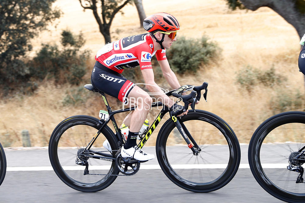 Simon Yates (GBR - Mitchelton - Scott) red leader jersey during the 73th Edition Tour of Spain, Vuelta Espana 2018, stage 10 cycling race, Salamanca - Fermoselle Bermillo de Sayago 177 km on September 4, 2018 in Spain - Photo Luis Angel Gomez / BettiniPhoto / ProSportsImages / DPPI