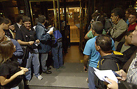 19/04/04 - DIEGO MARADONA WAS INTERNED AT HOSPITAL - Buenos Aires - Argentina. <br /> The ex Argentinean football player was interned at hospital yestarday night.<br /> Here PEOPLE, FANS AND PRESS outside the clinic.<br /> Foto: Digitalsport/Argenpress<br /> NORWAY ONLY