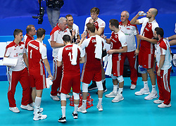 September 30, 2018 - Turin, Italy - Poland v Brazil - FIVP Men's World Championship Final.Vital Heynen coach of Poland talks with the team at Pala Alpitour in Turin, Italy on September 30, 2018. (Credit Image: © Matteo Ciambelli/NurPhoto/ZUMA Press)