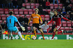 Wolverhamton Wanderers' Kevin Doyle closes in on goal - Photo mandatory by-line: Dougie Allward/Josephmeredith.com  - Tel: Mobile:07966 386802 01/12/2012 - SPORT - FOOTBALL - Championship  -  Bristol  -  Ashton Gate  -  Bristol City V Wolverhampton Wanderers