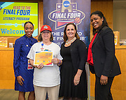 Janowski Elementary School is recognized during the reveal of the 32 finalists in the Houston ISD NCAA Read to the Final Four, November 11, 2015.