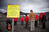 66 North trip. Hiking Sólheimajökull Glacier, South Iceland.