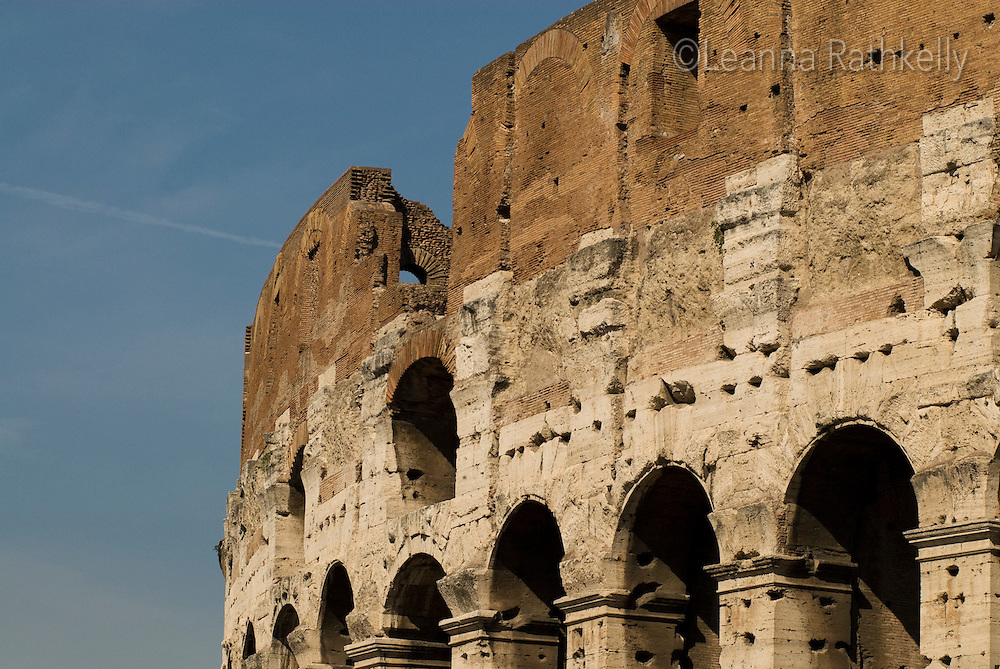 The colosseum in Rome attracts thousands of tourists every day in Italy.
