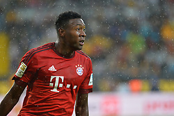 17.08.2015, Stadion Dresden, Dresden, GER, Testspiel, SG Dynamo Dresden vs FC Bayern Muenchen, im Bild David Alaba (FC Bayern Muenchen) im Regen von Dresden // during a benefit Match between SG Dynamo Dresden and FC Bayern Munich at the Stadion Dresden in Dresden, Germany on 2015/08/17. EXPA Pictures © 2015, PhotoCredit: EXPA/ Eibner-Pressefoto/ Harzer<br /> <br /> *****ATTENTION - OUT of GER*****