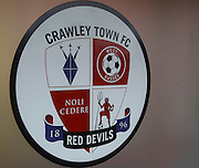 Crawley's club crest before kickoff in the Sky Bet League 2 match between Crawley Town and Cambridge United at the Checkatrade.com Stadium, Crawley, England on 9 January 2016. Photo by Andy Walter.