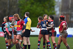 Bristol Ladies celebrate a close win  - Mandatory by-line: Paul Knight/JMP - 03/02/2018 - RUGBY - Cleve RFC - Bristol, England - Bristol Ladies v Harlequins Ladies - Tyrrells Premier 15s