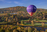 Hot air ballooning Quechee Vermont USA