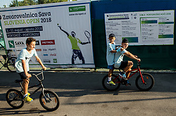 Kids during Day 7 at ATP Challenger Zavarovalnica Sava Slovenia Open 2018, on August 9, 2018 in Sports centre, Portoroz/Portorose, Slovenia. Photo by Vid Ponikvar / Sportida