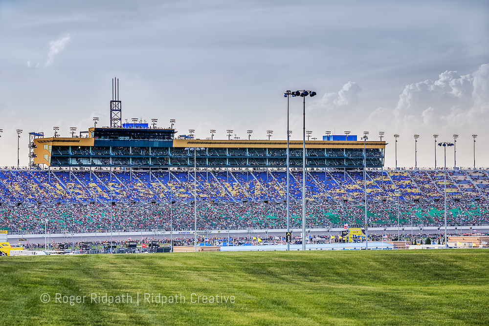 grandstand and infield Kansas Speedway 1.5 mile tri-oval suitable for all types of racing.