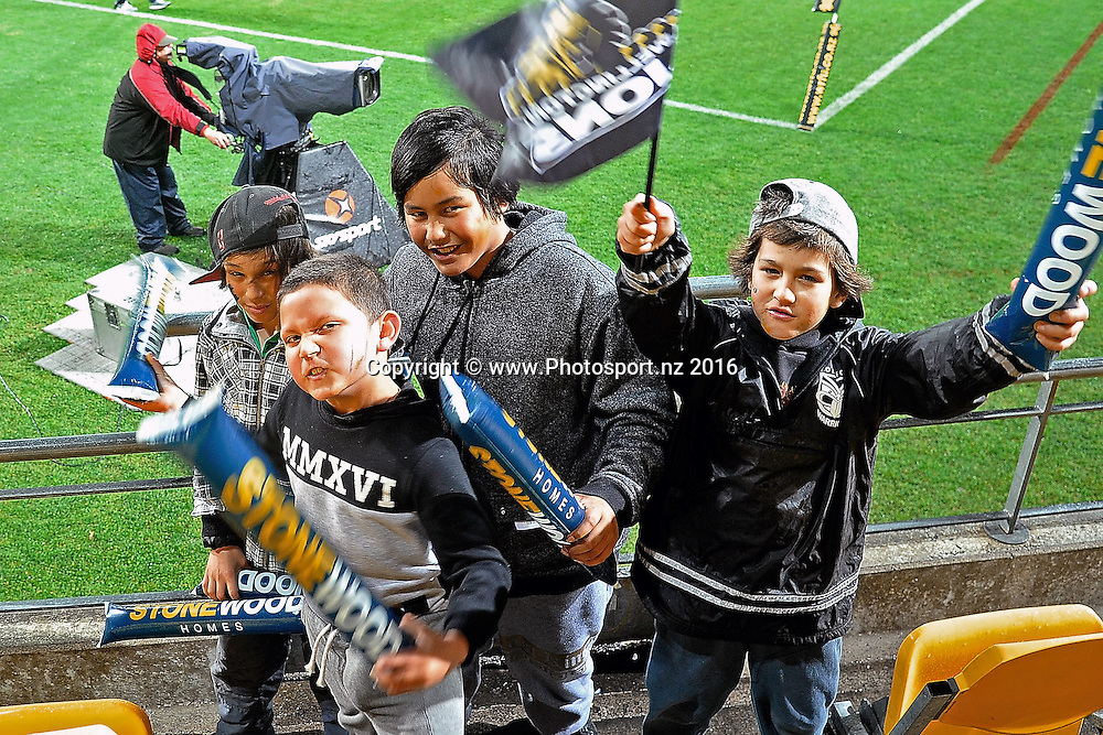Lion's fans during the Mitre 10 Cup - Wellington vs Bay of Plenty rugby match at Westpac Stadium on Friday the 16th of September 2016. Copyright Photo by Marty Melville / www.Photosport.nz