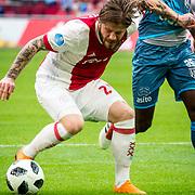 NLD/Amsterdam/20180408 - Ajax - Heracles, Lasse Schone vs Jamiro Monteiro