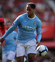 Joleon Lescott<br /> Manchester City 2009/10<br /> Manchester United V Manchester City (4-3) 20/09/09<br /> The Premier League<br /> Photo Robin Parker Fotosports International