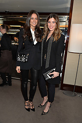 Left to right, KIM NAYAR and JADE HARGREAVES-ADAMS at a screening of Paramount Pictures 'Allied' hosted by Rosie Nixon of Hello! Magazine at The Bulgari Hotel, 171 Knightsbridge, London on 23rd November 2016.