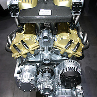 Lamborghini V12 6.5l engine at the Geneva Motor Show in 2007