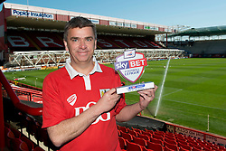 Bristol City Fan, Jerry Tocknell is awarded League One, Sky Bet Football League fan of the Month - Photo mandatory by-line: Joe Meredith/JMP - Mobile: 07966 386802 - 18/04/2015 - SPORT - Football - Bristol - Ashton Gate - Bristol City v Coventry City - Sky Bet League One