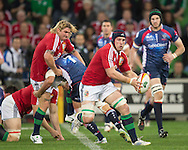 Justin Tipuric (Lions) in action during the tour match of the 2013 British And Irish Lions Australian Tour between RaboDirect Melbourne Rebels vs British And Irish Lions at AAMI Park, Melbourne, Victoria, Australia. 25/06/0213. Photo By Lucas Wroe