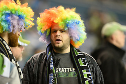 March 1, 2018 - Seattle, Washington, U.S - Soccer 2018: A Sounders fan during pregame activities as Santa Tecla FC visits the Seattle Sounders for a CONCACAF match at Century Link Field in Seattle, WA. (Credit Image: © Jeff Halstead via ZUMA Wire)