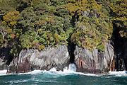 Milford Sound, rugged coastline, New Zealand