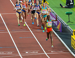 London, 2017 August 05. Almaz Ayana, ahead of runners she lapped, wins the Women's 10,000m final at the IAAF World Championships London 2017. © Paul Davey.