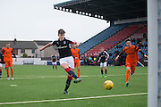 Dundee' s Mark Smith knocks home the rebound after his penalty had been saved to make it two nil  - Dundee v Dundee United in the SPFL Development League at Links Park, Montrose. Photo: David Young<br /> <br />  - &copy; David Young - www.davidyoungphoto.co.uk - email: davidyoungphoto@gmail.com