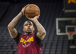 December 27, 2017 - Sacramento, CA, USA - The Cleveland Cavaliers' Isaiah Thomas works out before the Sacramento Kings play host to the Cavs on Wednesday, Dec. 27, 2017, at Golden 1 Center in Sacramento, Calif. Thomas, who was orginally drafted by the Kings, is still on injured list. (Credit Image: © Hector Amezcua/TNS via ZUMA Wire)