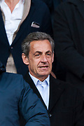 Nicolas Sarkozy former french president of France during the French Championship Ligue 1 football match between Paris Saint-Germain and SCO Angers on march 14, 2018 at Parc des Princes stadium in Paris, France - Photo Pierre Charlier / ProSportsImages / DPPI