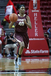 01 November 2017: Sabrina Clay during a Exhibition College Women's Basketball game between Illinois State University Redbirds the Red Devils of Eureka College at Redbird Arena in Normal Illinois.