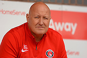 Charlton Athletic Manager Russell Slade during the EFL Sky Bet League 1 match between Walsall and Charlton Athletic at the Banks's Stadium, Walsall, England on 20 August 2016. Photo by Alan Franklin.