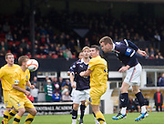 Rhys Weston scores Dundee's opener - Ayr United v Dundee, IRN BRU Scottish Football League First Division at Somerset Park..© David Young.5 Foundry Place.Monifieth.Angus.DD5 4BB.Tel: 07765 252616.email: davidyoungphoto@gmail.com.http://www.davidyoungphoto.co.uk