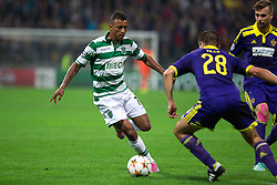 Nani of Sporting vs Mitja Viler of Maribor during football match between NK Maribor and Sporting Lisbon (POR) in Group G of Group Stage of UEFA Champions League 2014/15, on September 17, 2014 in Stadium Ljudski vrt, Maribor, Slovenia. Photo by Matic Klansek Velej  / Sportida.com