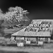 Holiday Valley Barn - Highway 138 - HDR - Lensbaby - Infrared Black & White